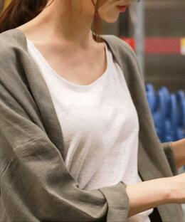 カーディガンロング秋長袖薄手レディースロングシャツロングカーディガンリネンカーディガンロングロングワンピース麻リネン麻90%羽織りガウン涼しいおしゃれ大人可愛い20代30代40代50代