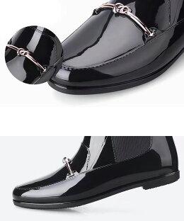 【予約:5/7以降発送予定】レインブーツレディースショートおしゃれサイドゴアおしゃれローファー風ショートレインブーツレインシューズ大人通勤靴軽量防水撥水長靴20代30代40代50代【aimoha】