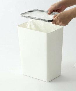 ゴミ箱おしゃれスリムウッドウッド調ポリ袋を隠せるふた付きごみ箱インリアかわいい可愛いデザイナーズリビング子供部屋北欧【ポリ袋を隠せるゴミ箱】