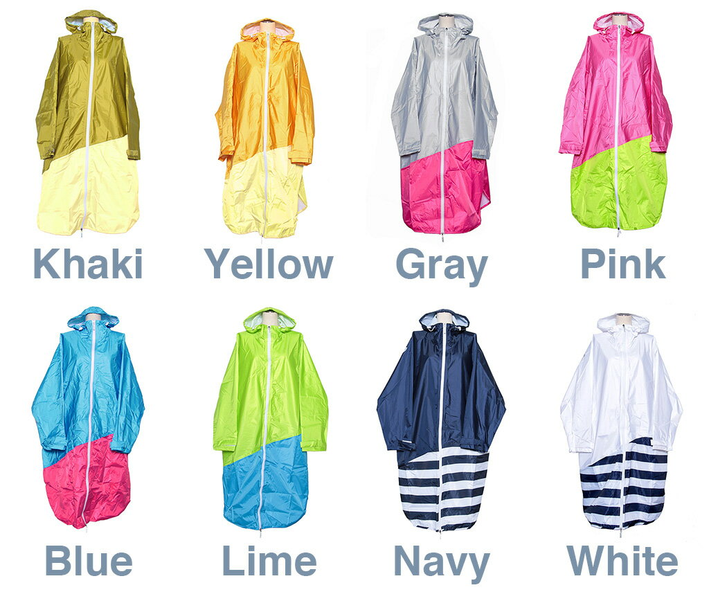 【 PORD レインポンチョ LADIES フリーサイズ @3672 】RAIN PONCHO 雨具 カッパ アウトドア 自転車 サイクル フェス