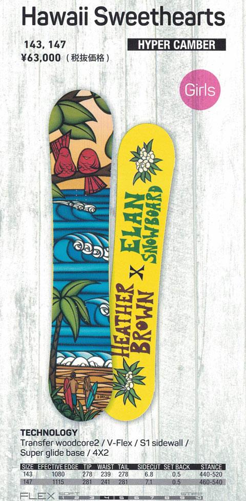 ELAN SNOWBOARDS [ Hawaii Sweethearts @68040] エラン スノーボード 【正規代理店商品】
