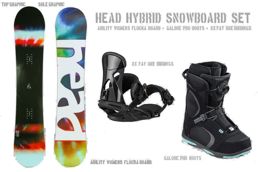 2018-19新作 ケース無料 HEAD SNOWBOARDS [ ウーメンズ スノーボード 3点セット ABILITY FLOCKA スノボ @122040] 【送料無料】【正規品】