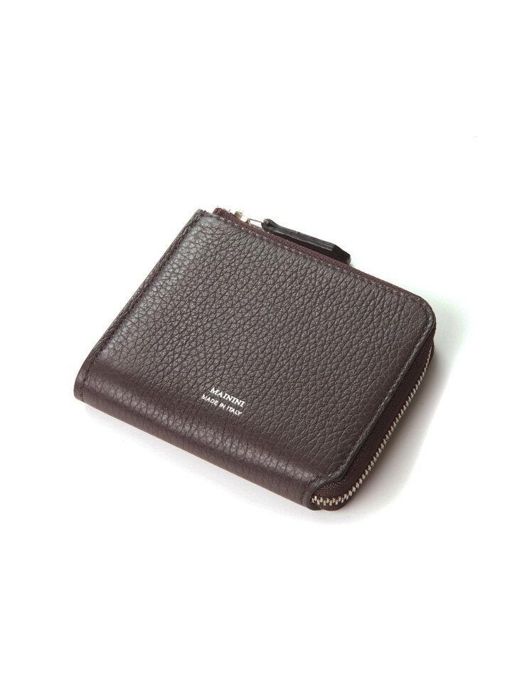 マイニーニ MAININI メンズ L字ジップミニ財布 レザーミニウォレット MA395DR