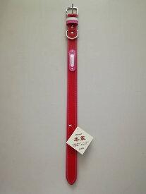 【一部汚れあり】カワノ産業 (M1866R) 本革 マイスターWレザー カラー#30 迷子ホルダー付レッド(no.8153)