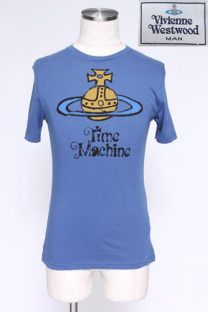 【USED】MANタイムマシンオーブプリントTシャツ(BLUE)Vivienne Westwood(ヴィヴィアンウエストウッド・ビビアン)【中古】