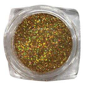 Aiネイル(アイネイル)ラメグリッター【#150 ライトゴールド】約2g 透明ケース入り ネイルやボディーアートにも使えます♪