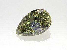 0.174ct FANCY.DARK.GRAY.YELLOWISH.GREEN,SI1,ペア カメレオンダイヤモンドルース