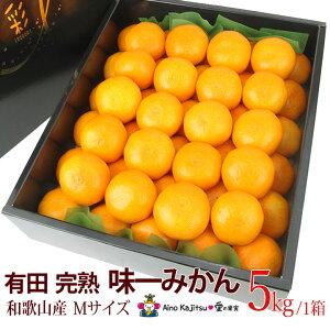 有田完熟「味一みかん」(和歌山産)Mサイズ・5kg