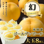 ゴールデンピーチ【山梨産】黄桃【大玉】【8個入】