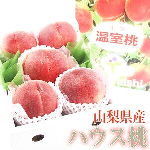 ハウス桃(山梨産)(5〜6玉入) 温室 もも モモ 白桃 白鳳 Peach おいしい桃 くだもの 最旬桃 フルーツ 果物 プレゼント 手土産 お返し 誕生日 フルーツ 景品 出産 フルーツ 果物 内祝い 贈り物