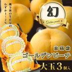 ゴールデンピーチ【山梨産】黄桃【大玉】【3個入】