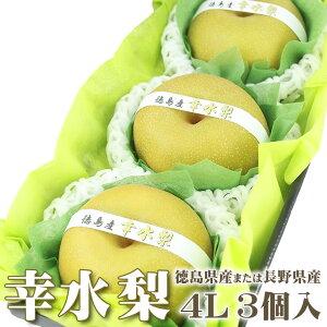 【愛の果実厳選!】「幸水」梨【徳島産または長野産】【4L×3個入】