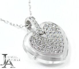 【Ekaterina】エカテリーナ ダイヤモンド 0.7ct ハート パヴェダイヤ ネックレス K18WG ホワイトゴールド【中古】MJJE