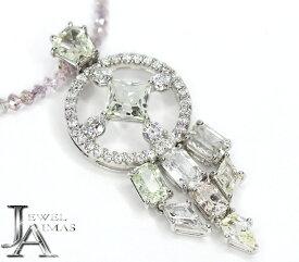 【Ekaterina】エカテリーナ サファイア 4.55ct ダイヤモンド 0.61ct ピンクダイヤモンド 9ct K18WG ホワイトゴールド【中古】MJJE