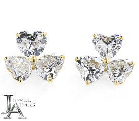 【Cartier】カルティエ アズ ド クール エースドクー ダイヤモンド 6P(約3.9ct) ハートシェイプ クラスターダイヤ 三つ葉 ピアス 750YG K18YG イエローゴールド【中古】MER