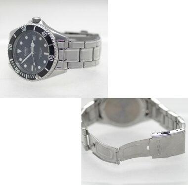 【CASIO】カシオスポーツダイバールックMTD-1043Aステンレススチール黒/ブラック文字盤メンズ腕時計中古品