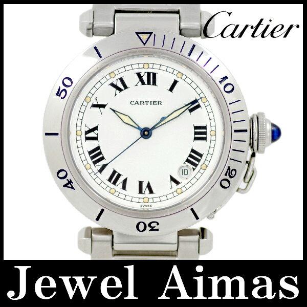 【希少品】【Cartier】カルティエ パシャ 38mm ヴィンテージ 初期ホワイトダイアル 白 ホワイト 文字盤 SS ステンレス メンズ 自動巻き アンティーク 【中古】【腕時計】