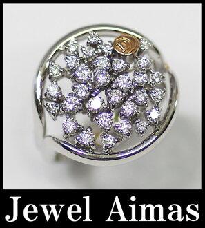 damiani 750WG/K18钻石1.06ct 3181AL环14.5号白色合金