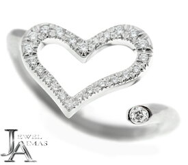 【Piaget】ピアジェ ダイヤモンド 25P ハート リング #50 10〜11号 K18WG ホワイトゴールド【中古】MJJZ