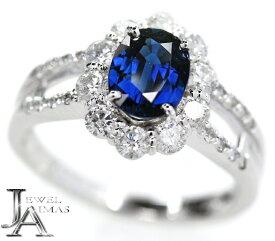 ブルーサファイア 1.27ct ダイヤモンド 0.76ct リング 12号 PT900 プラチナ【新品】【ジュエリー】MEZ
