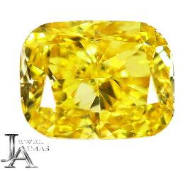 ファンシービビッドイエローダイヤモンド 0.163ct FANCY VIVID YELLOW SI-1 クッションシェイプカット ダイヤモンドルース ダイヤルース 裸石<中央宝石研究所ソーティング付>【ルース】RZL.K