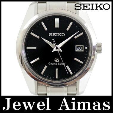 【SEIKO】セイコーグランドセイコーSBGV0079F82-0AA0デイトマスターショップ限定モデルブラック文字盤SSステンレスメンズクォーツ【中古】【腕時計】