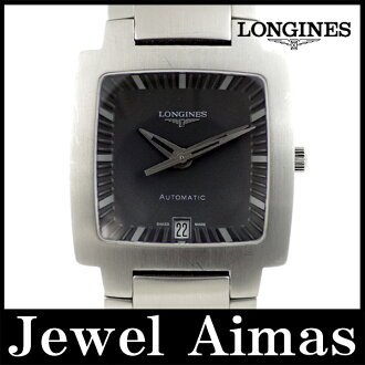Longines opposition square L3.627.4 date gray character Panel SS stainless steel men's automatic
