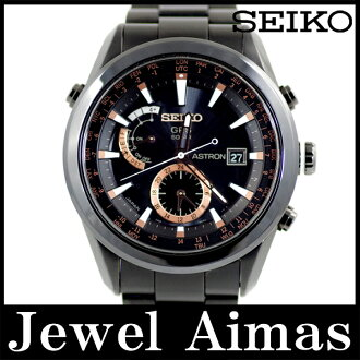 Seiko ASTRON 2500 books limited 7X52-0AC0 SAST 001 GPS black dial ceramic titanium genuine rubber strap mens waterproof satellite radio watch solar quartz