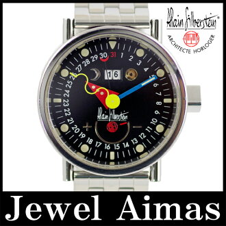 Alain Silberstein HEBDO Hebdo 2000, 500 pieces limited black letter Edition SS stainless steel mens automatic winding