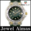 Tag Heuer 6000 series WH5153-K1 green character Panel YG yellow gold SS stainless steel Combi genuine leather strap mens automatic winding
