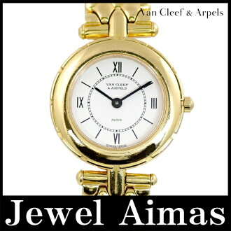Van Cleef & Arpels 13607B sports 2 white characters Edition YG yellow gold pure gold ladies quartz