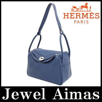 Hermes Lindy 26 hand shoulder bag 2-WAY Brad Mart Navy silver bracket triyoncremans