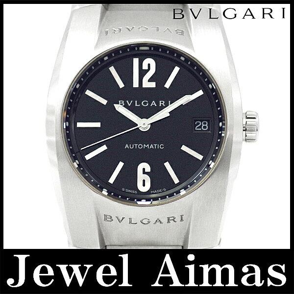 【BVLGARI】ブルガリ エルゴン EG35S ブラック 文字盤 SS ステンレス メンズ 自動巻き【中古】【腕時計】