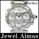 【Cartier】カルティエ パシャ グリッド 38mm コンベックスグリッド W31059H3 2379 裏スケルトン シルバー 文字盤 SS ステンレス メ...