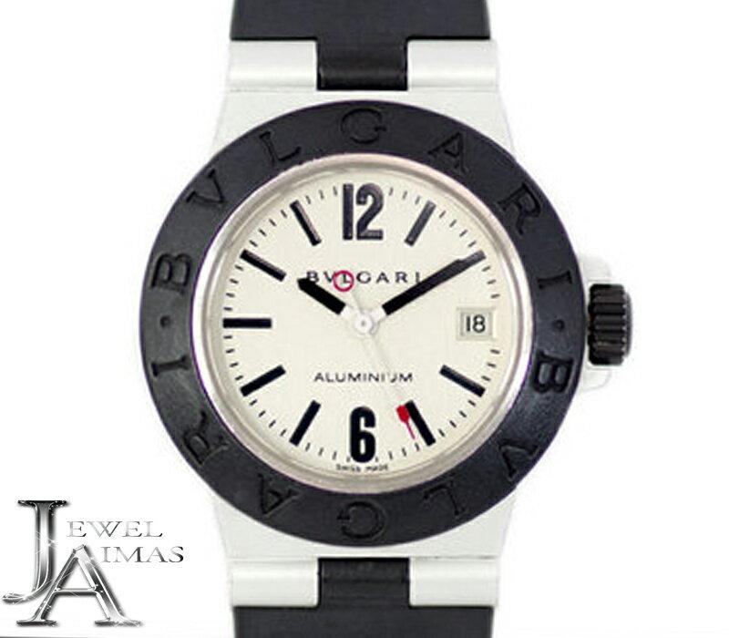【最大3万円オフクーポン!】【BVLGARI】ブルガリ アルミニウム AL29A デイト シルバー 文字盤 アルミ ラバー レディース クォーツ AL29TA【中古】【腕時計】
