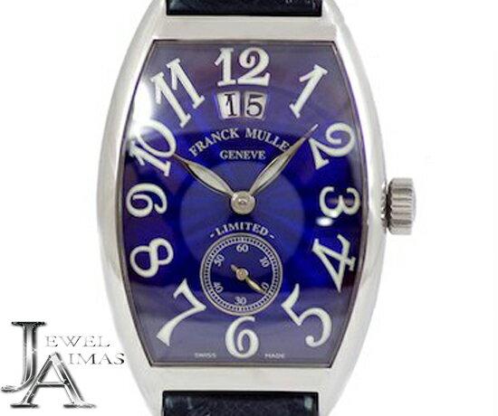【FRANCK MULLER】フランクミュラー トノーカーベックス 2851 S6 1000本限定 ブルー 文字盤 SS ステンレス 純正レザーストラップ メンズ 自動巻き【中古】【腕時計】