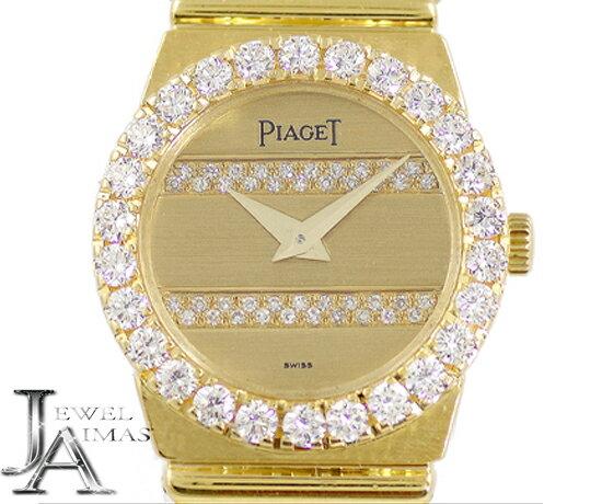 【PIAGET】ピアジェ ポロ ゴールド 文字盤 K18 YG イエローゴールド 金無垢 レディース クォーツ【中古】【腕時計】