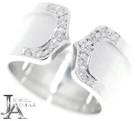 【Cartier】カルティエ C2 LM ダイヤモンド 14P C2リング #50 約10号 K18WG 750 ホワイトゴールド【中古】MER