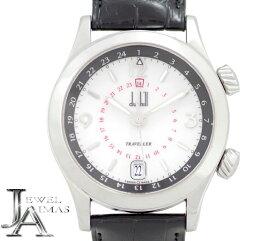 【Dunhill】ダンヒル シティスケープ トラベラー GMT 8024 デイト 白 ホワイト 文字盤 SS ステンレス 純正レザーベルト 純正Dバックル メンズ 自動巻き【中古】【腕時計】