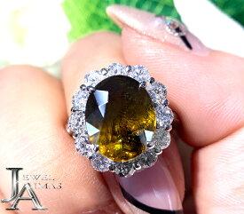 スフェーン 5.62ct ダイヤモンド 1.6ct オーバル 楕円 スフェーンリング 13号 PT900 プラチナ【新品】【ジュエリー】RZP.T