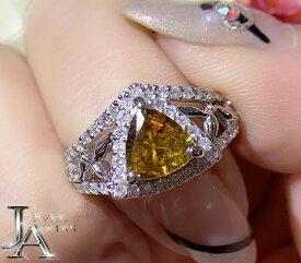 スフェーン 1.03ct ダイヤモンド 0.57ct トライアングル 三角形 スフェーンリング 11号 PT900 プラチナ【新品】【ジュエリー】RZP.T