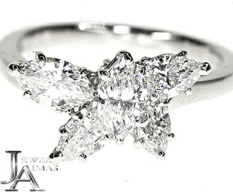 Harry Winston sparkling cluster by Harry Winston ring Diamond PT950 8.5 issue