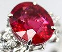 レッドトルマリン ルベライト 3.349ct ダイヤモンド 0.11ct リング PT900 12.5号【中古】【ジュエリー】ZPP