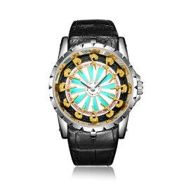 腕時計 ONOLA 円卓の騎士 エクスカリバー ナイト オブ ザ ラウンドテーブル 美しい 個性的 メンズ 腕時計 ダーツ盤 ナイトオブラウンズ 円卓の騎士団 12人 キャメロット 城 抜けない剣 アーサー王 ハード ロック パンク コア 個性的