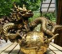 龍 特大 置物 風水 アイテム 竜 龍神 パワースポット 真鍮 開運 金運 財産運 出世運 恋愛運 幸福 成功 プレゼント 贈…