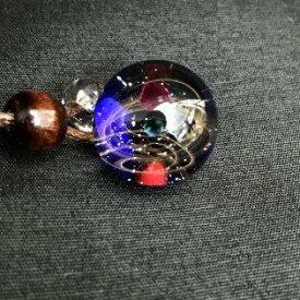 匠の技 神秘的な 宇宙 ガラス ネックレス ペンダント 太陽 惑星 銀河 地球 地球儀 世界 チョーカー ネック ギフト 風水 運気 エネルギー プレゼント 贈り物