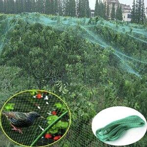 ネット 鳥よけネット グリーン 4m×10m 畑 バードネット 長さカット 可能 防鳥ネット カラス対策 からすよけ ゴミネット 家庭菜園ネット 農業用品 資材 防鳥ネット ベランダ 鳥よけ 網 田畑 鳥