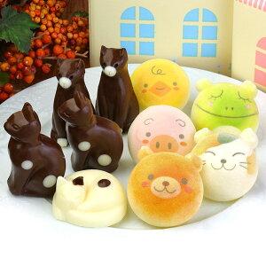 ホワイトデー お返し お絵かきマカロン & ねこ チョコレート 10個 家箱入り | スイーツ ギフト 詰め合わせ 子供 小学生 かわいい 誕生日 プレゼント かわいい 動物 猫 アニマル お祝い 内祝 卒
