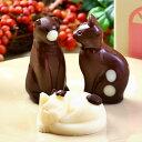 バレンタイン ギフト ねこ チョコレート 3個 家箱入り | かわいい お菓子 スイーツ 誕生日 プレゼント 動物 アニマル …