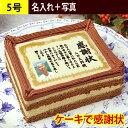 スイーツ お菓子 ケーキで感謝状 名入れ 写真 5号 | メッセージ 入り プレゼント スイーツ デコレーションケーキ お祝…